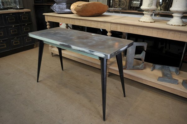 metal console table by xavier pauchard for tolix 1950s