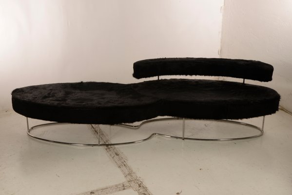 italian steel chaise lounge sofa 1960s