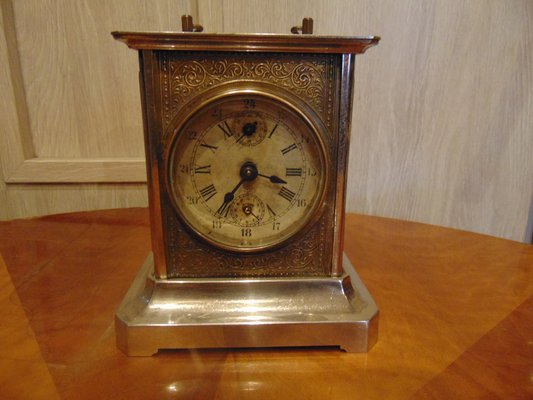 Antique Brass Alarm Clock From Junghans