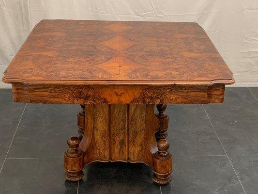 art deco walnut dining table 1930s