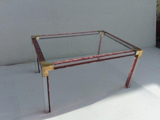 table basse en plexiglas 1960s