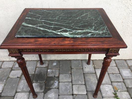 table basse style louis xvi en marbre laiton bois annees 80