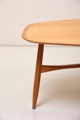 large boomerang shaped coffee table in teak fby svante skogh for laauser 1960s