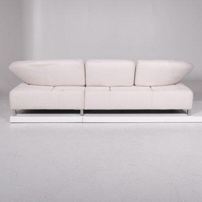 microfiber white coner sofa from ewald schillig