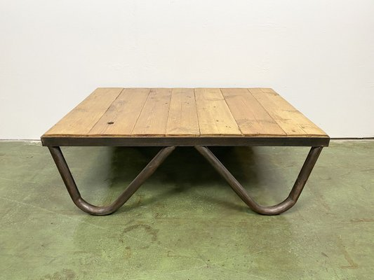 industrial coffee table 1950s