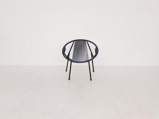 fauteuil d exterieur mid century en fil de plastique 1960s