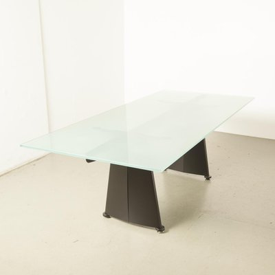 keystone frosted glass table by jean prouve for tecta 1950s