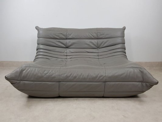 gray togo leather sofa by michel ducaroy for ligne roset 2014