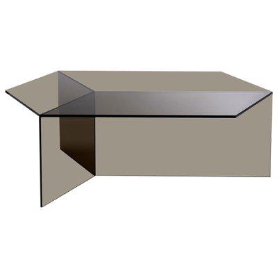 clear glass isom oblong coffee table by sebastian scherer