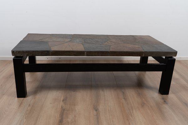 vintage stone coffee table