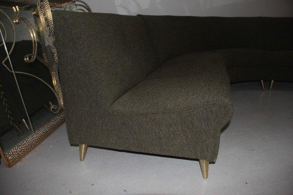 mid century modular curved sofa set from zanuso