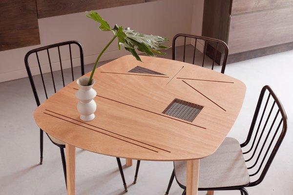 table pliante d interieur et d exterieur liane par kathrin charlotte bohr pour jacobsroom