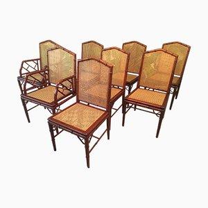 Chaises De Salon Cathdrale En Bambou De McGuire 1970s