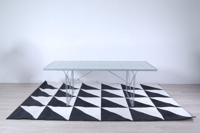 Moment Steel And Glass Table By Niels Gammelgaard For Ikea 1987 For Sale At Pamono