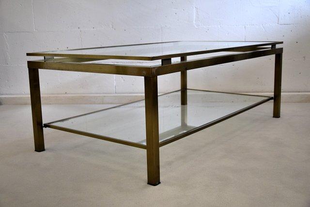 mid century modern brass coffee table by maison jansen