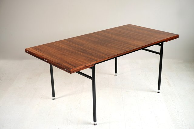 french rosewood model 800 dining table by alain richard for meubles tv 1960s