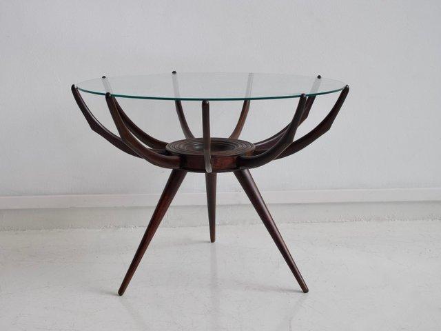 wooden spider leg coffee table by carlo de carli 1950s