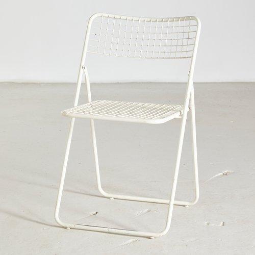 chaise pliable ted net par niels gammelgaard pour ikea 1970s
