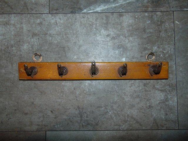 vintage art deco wooden coat rack