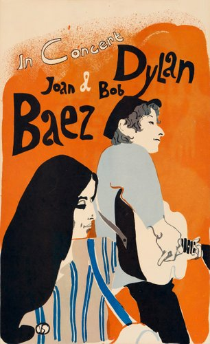 bob dylan und joan baez poster von eric von schmidt 1965