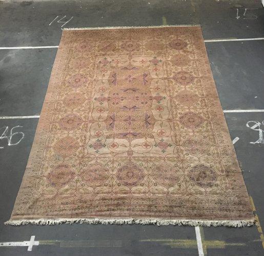 tapis art nouveau tisse a la main avec motifs floraux