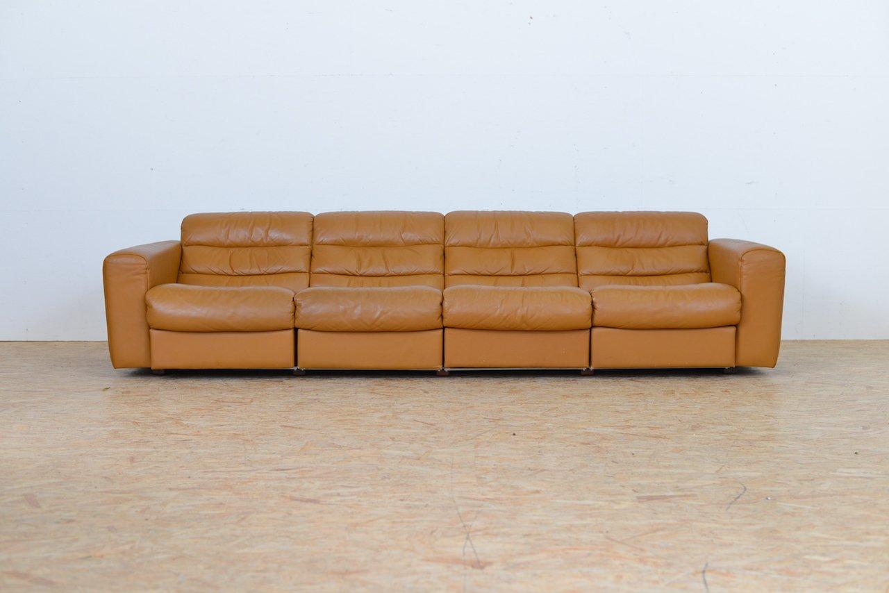 canape vintage a 4 places en cuir avec fonction relax de de sede