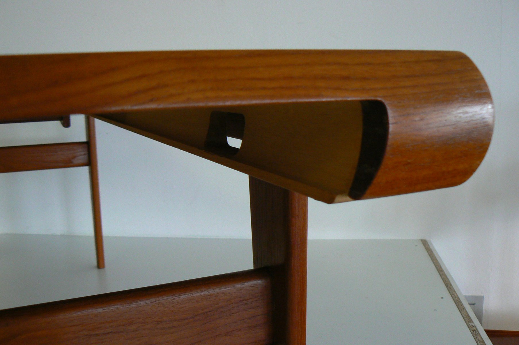 Danish Teak Coffee Table With Built-In Nesting Table From