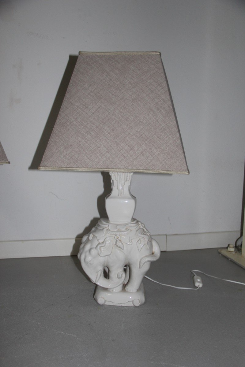 Lamp Table Ceramic Elephant