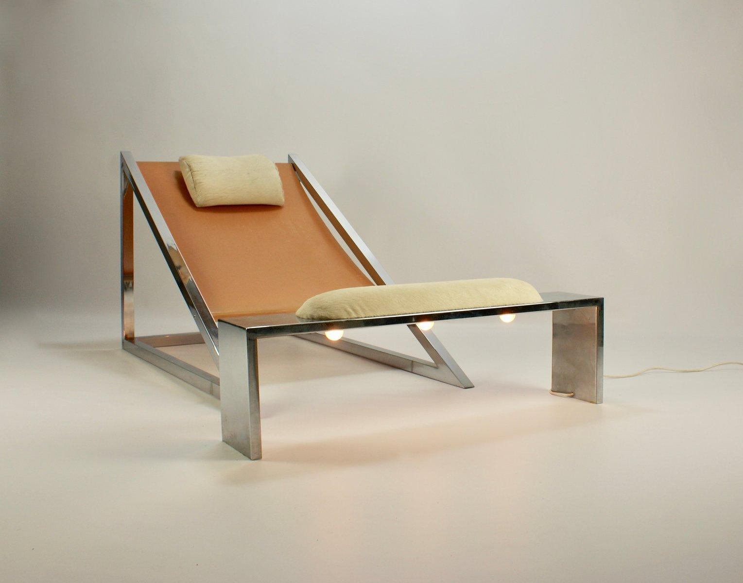 chaise mies avec ottomane par archizoom associati pour poltronova 1969