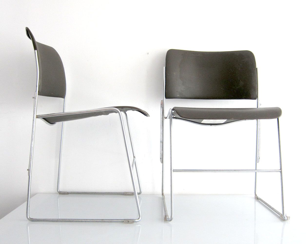 Vintage 40 4 Chairs By David Rowland For Gf Furniture Systems Set Of 11