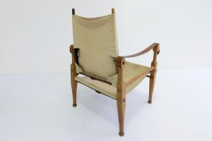 Safari Stuhl aus Leder & Eiche von Wilhelm Kienzle & Klint ...
