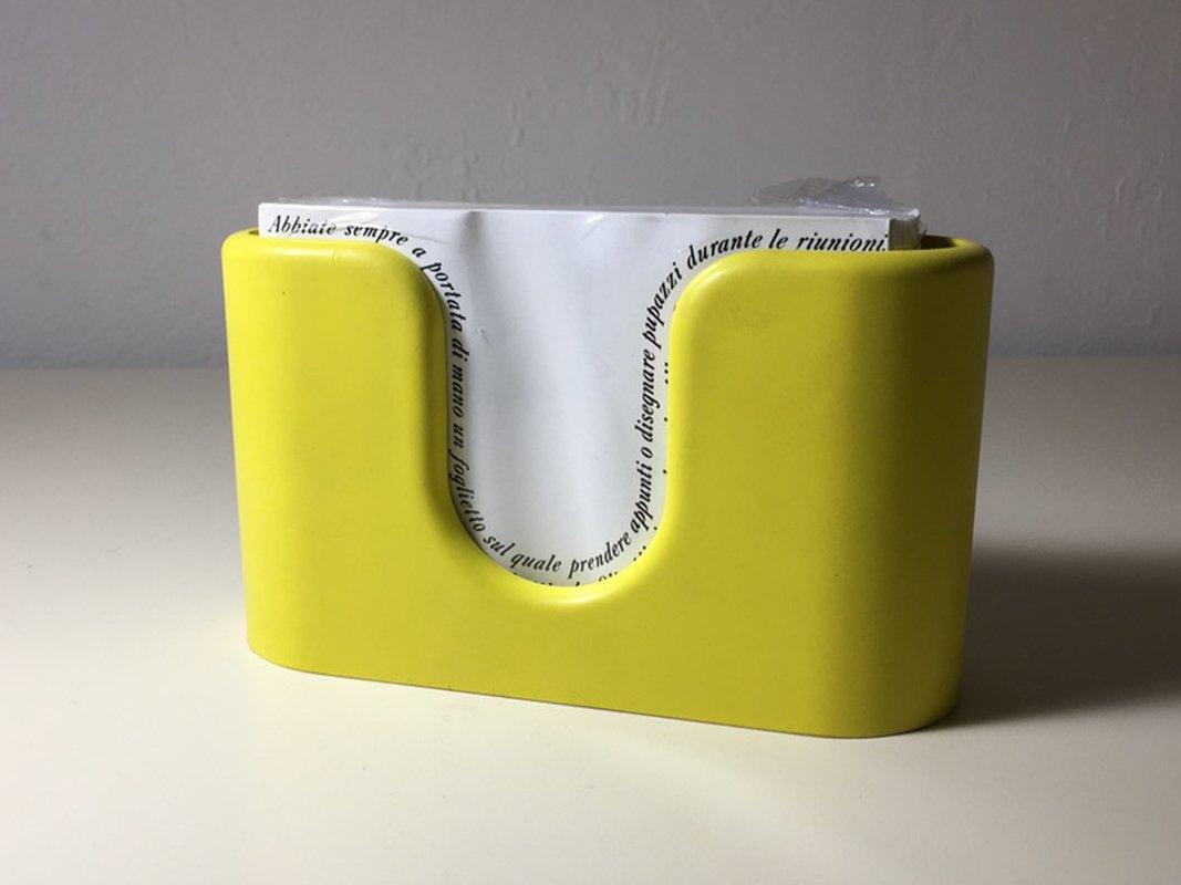 porte papier jaune par albert leclerc pour olivetti 1968