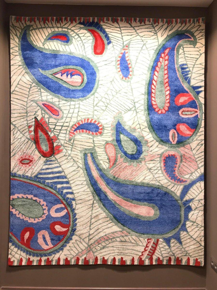tapis a motif cachemire tisse a la main par ikt handmade inde