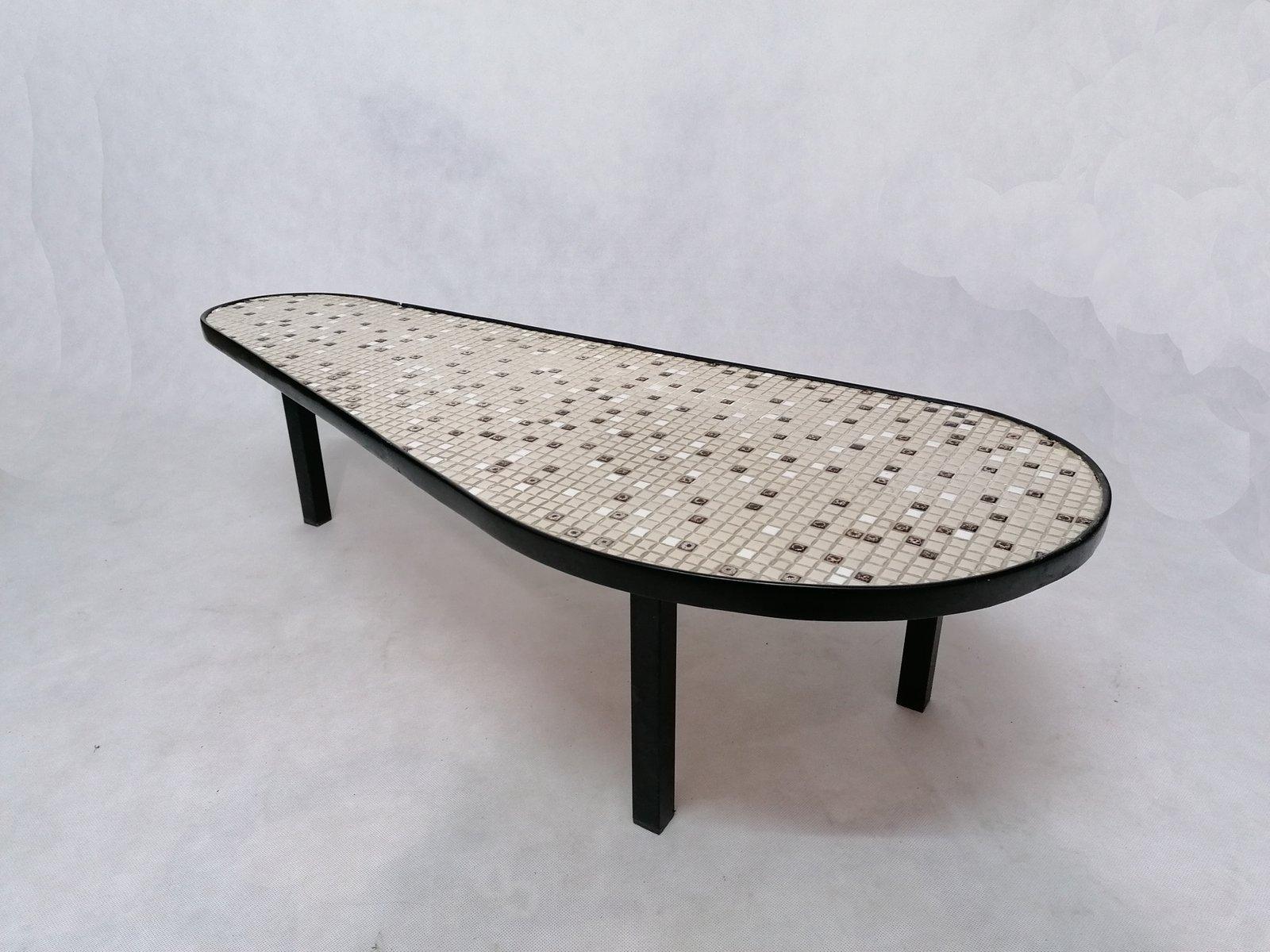 vintage mosaic tiled coffee table