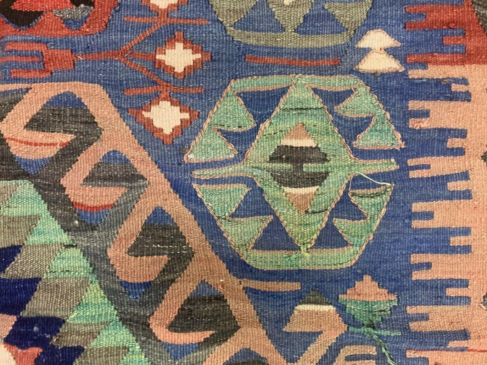 tapis kilim vintage en laine turquie annees 50