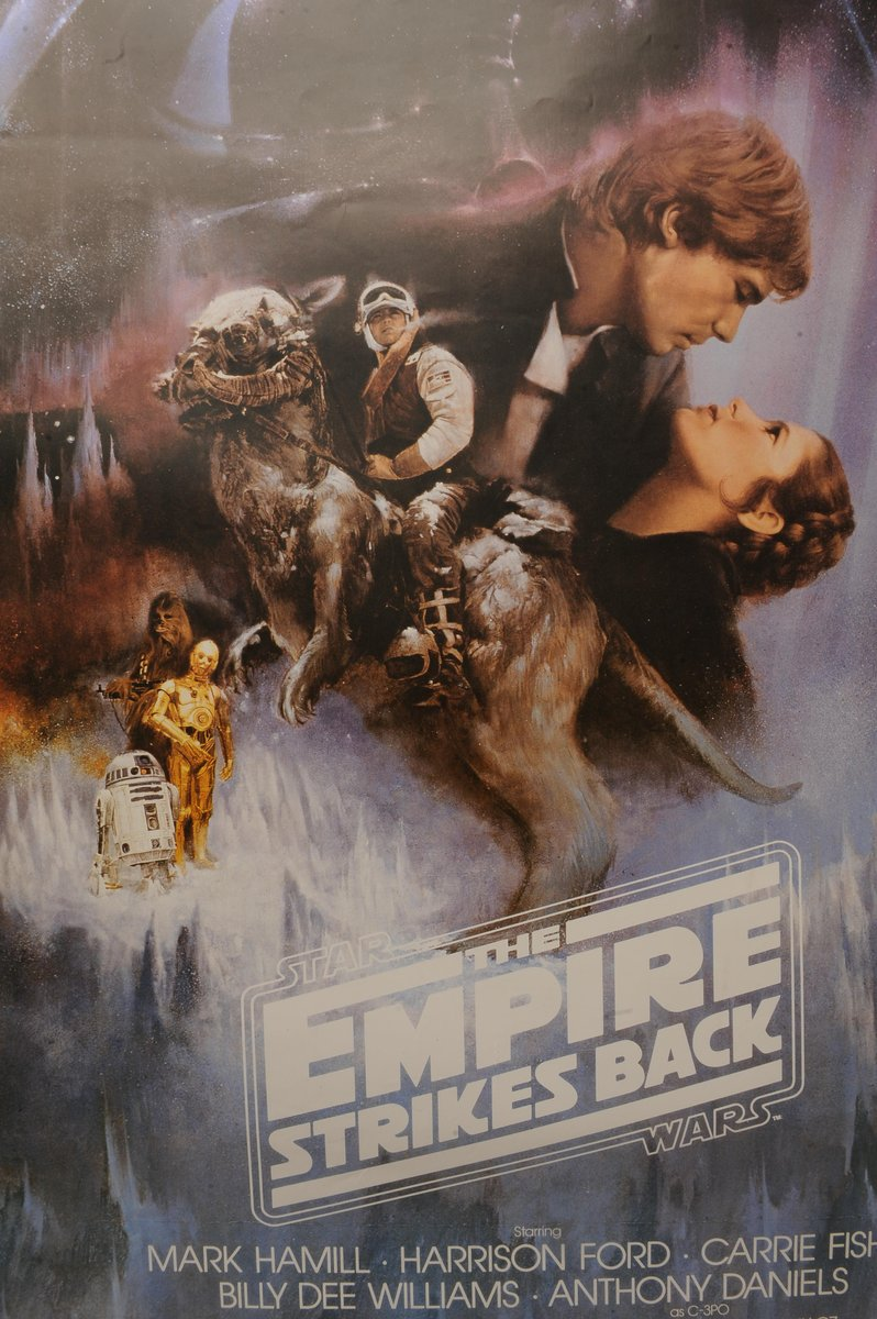 star wars the empire strikes back movie poster 1995