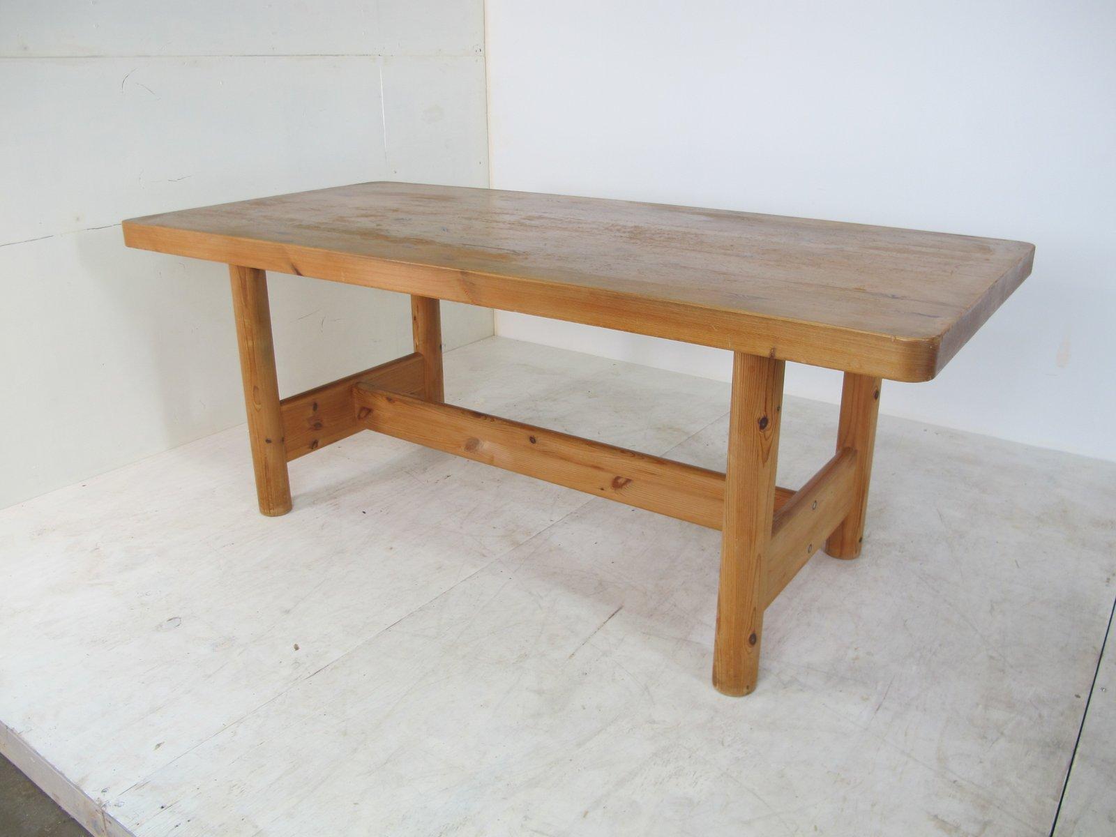 grande table de salle a manger rectangulaire mid century par rainer daumiller 1970s