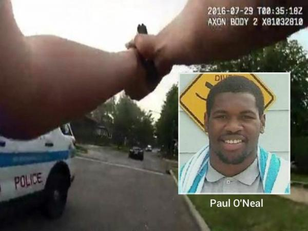 Image result for Paul O'Neal crashed into multiple police vehicles in a stolen Jaguar convertible in July in the South Shore neighborhood