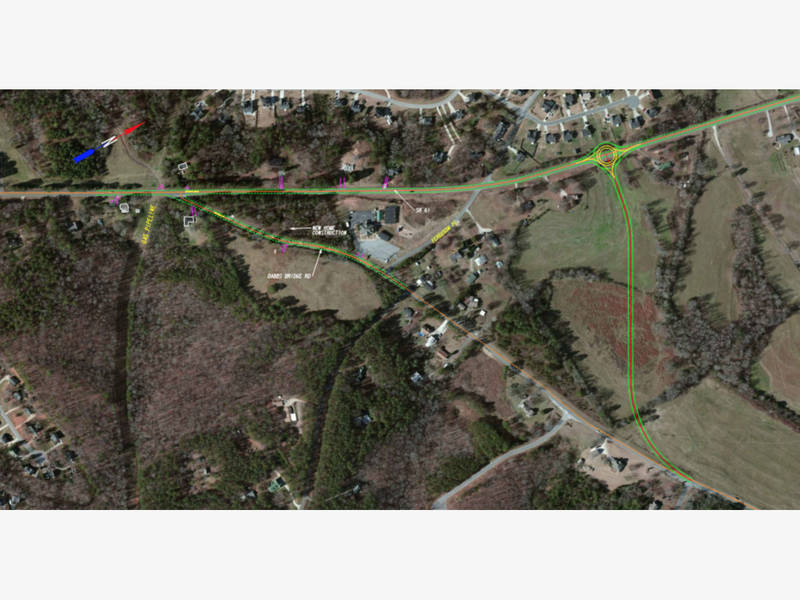 Hwy 61 and Dabbs Bridge Road Intersection Improvement Proposal; Image Courtesy of GA DOT