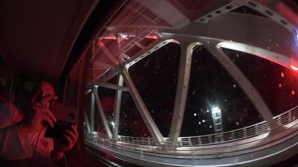 Прошедший по Крымскому мосту поезд из Петербурга отправился обратно
