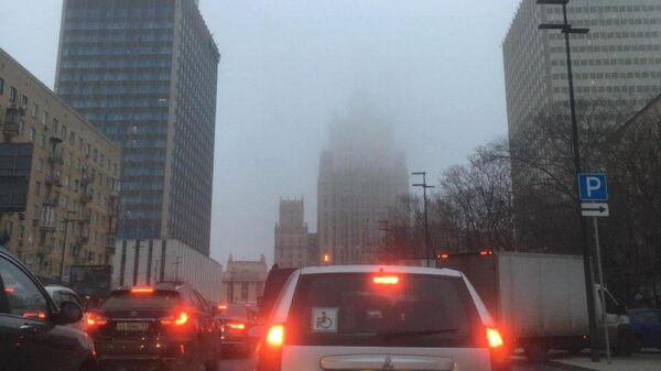 МЧС предупредило москвичей о сильном тумане