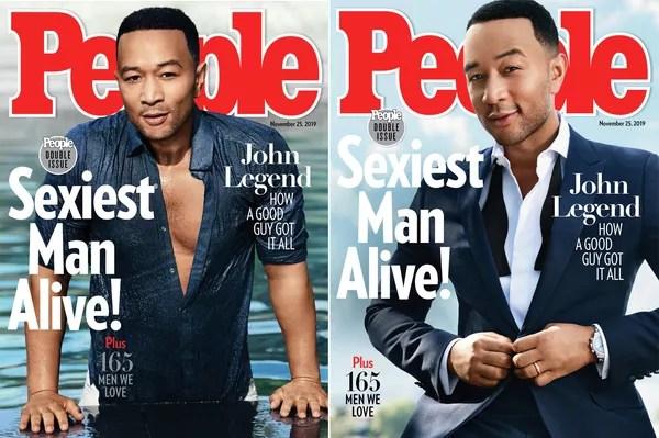 Обложка двойного номера журнала People c Джоном Леджендом