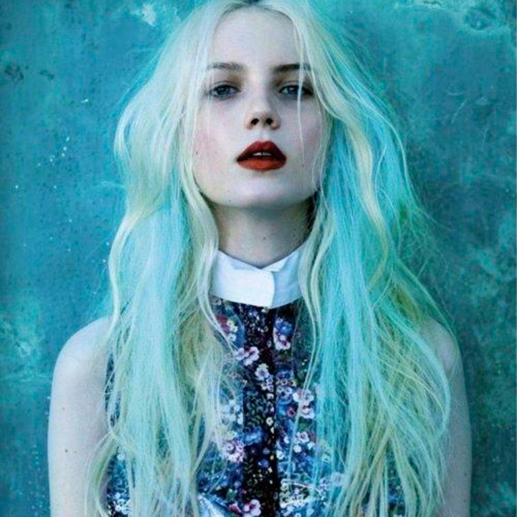Blond Turquoise Seapunk Comment Les Filles Styles