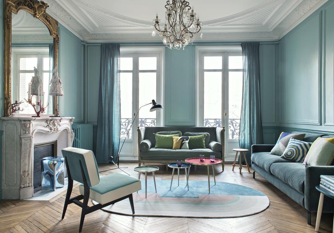 Bleu Turquoise Et Pastel Le Duo Gagnant De Cet Appart