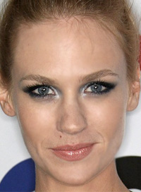 January Jones smoky eye makeup