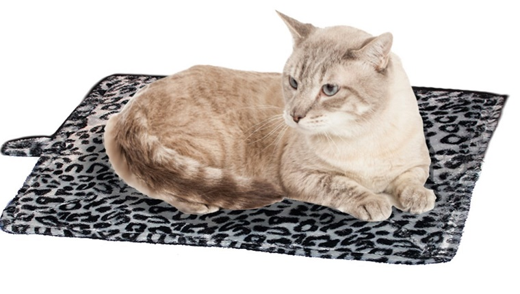 Leopard Print Thermal Cat Bed
