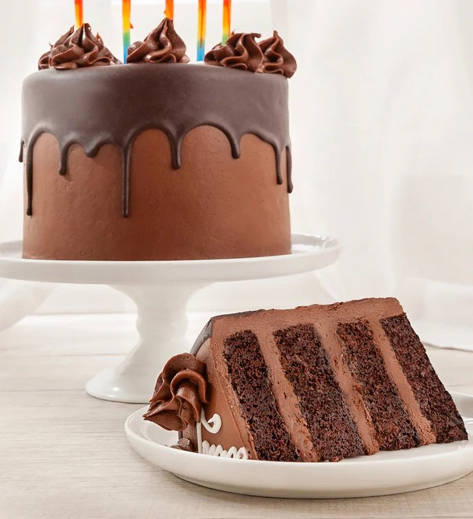 Happy Birthday Chocolate Cream Cheese Frosted Cake 1800baskets Com