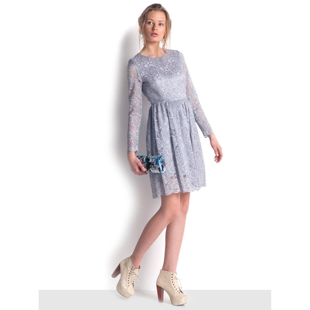 8. Silver Lace Dress 04498