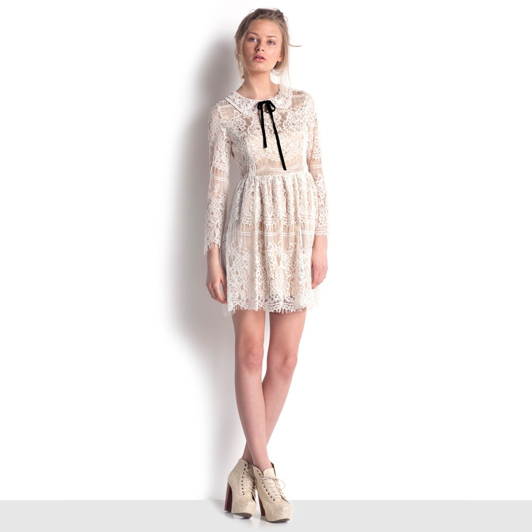 9. Pure White Lace Dress f111c