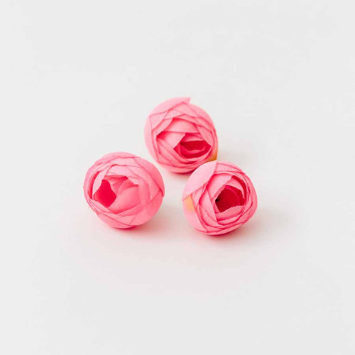 Ranunculus flower heads great for embellishing any craft project   b     pink ranunculus